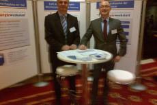 Energiewerkstatt - Infostand mit Vertriebsleiter Aleksander Lazic und Geschäftsführer Lutz Raugust