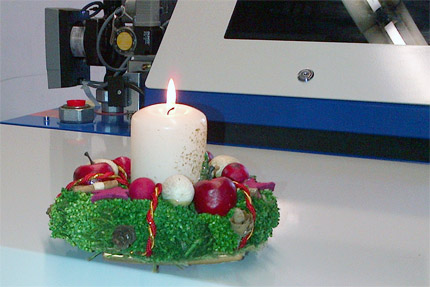 Kerze auf Energiewerkstatt BHKW