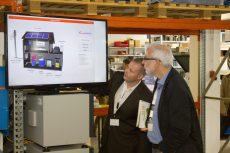 Fand sehr viel Interesse in der Ausstellung: Die Vorstellung des BHKW-Inselnetzbetriebes mit dem Energiewerkstatt-Effizienzverstärker