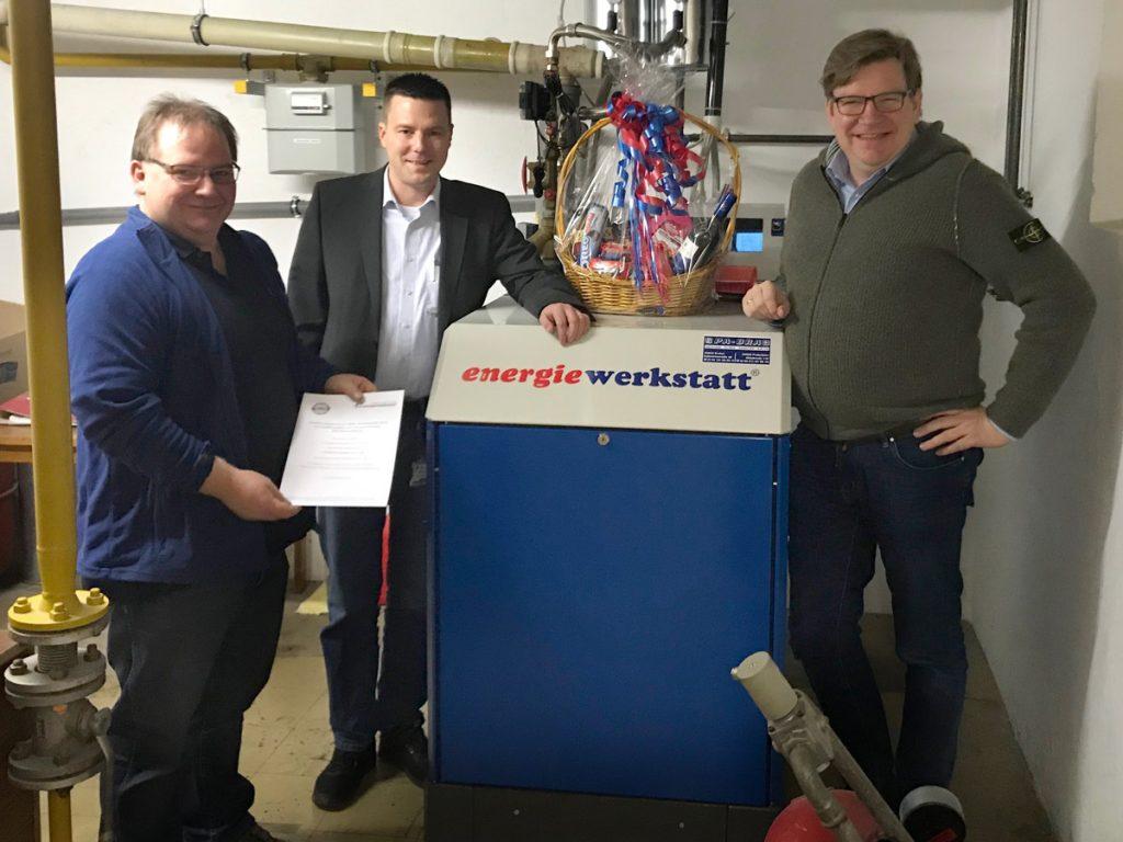v.l.n.r.: Ulrich Michels (Haustechnik), Jan-Hendrik Bröhenhorst und Thomas Berens (Einrichtungsleitung und Geschäftsführung)